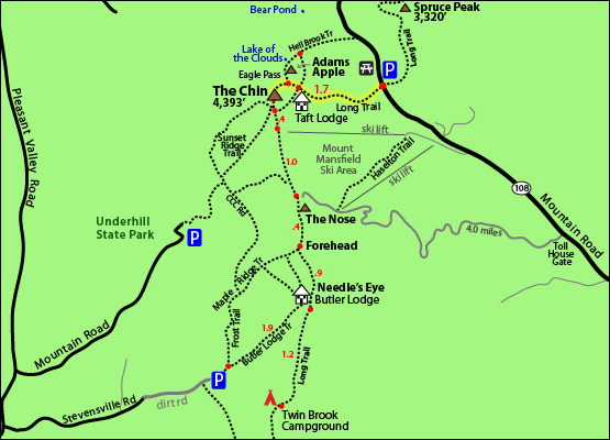 Hike Mount Mansfield Vermont VT 4,393 4000 Footers New England 4000 ...