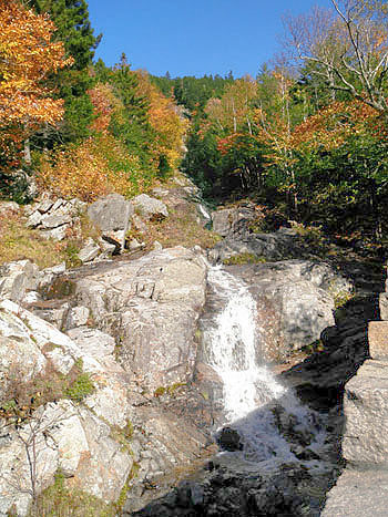 Flume Cascades - Flume Waterfalls, NH, New Hampshire Hart's Location, White Mountains, Route 302 Near Mount Jackson