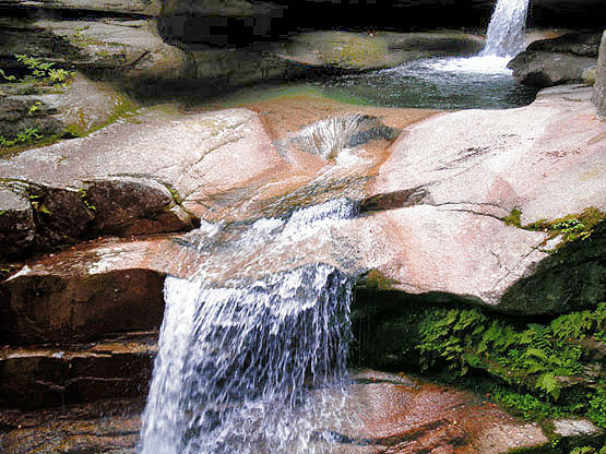 Sabbaday Falls, Sabbaday Waterfall, White Mountains, Waterville Valley, NH, New Hampshire
