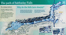 Sabbaday Falls Sign, Sabbaday Waterfall, White Mountains, Waterville Valley, NH, New Hampshire