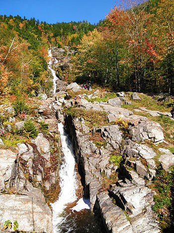 Silver Cascades - Silver Waterfalls, NH, New Hampshire Hart's Location, White Mountains, Route 302 Near Mount Jackson