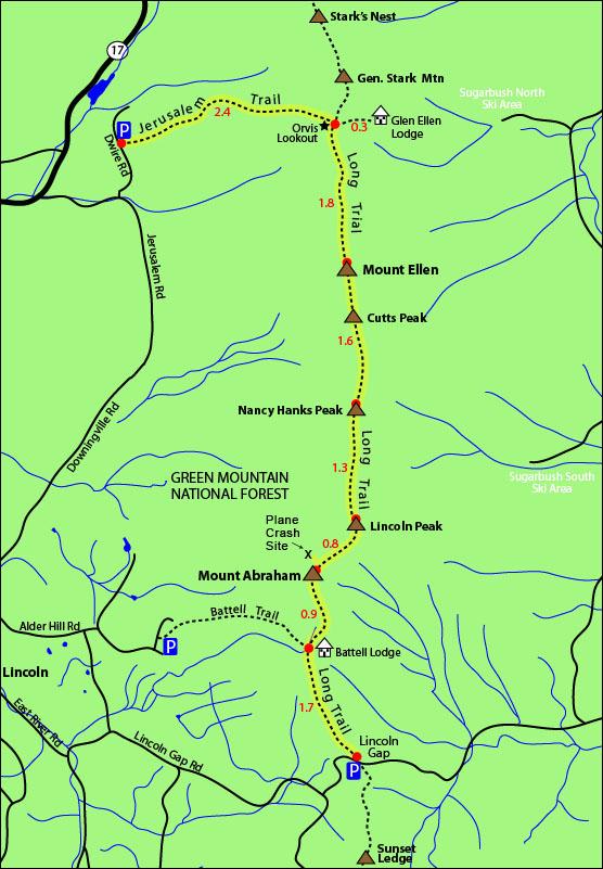 Hike Mount Ellen Warren Vermont 4000 footers 4,083 feet Hiking mt ellen