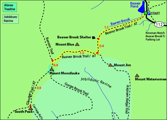 Mount Moosilauke Mt Moosilauke White Mountains New Hampshire Benton - Appalachian trail new hampshire map