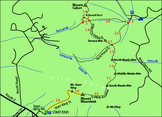 Hike Mount Starr King Feet Starr King Trail Jefferson NH New - Appalachian trail new hampshire map