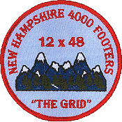12x48 48x12 the grid hiking patch new hampshire nh 4000 footers patches