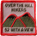 hiking patch 52 with a view 52wav 52 wav over the hill hikers patches