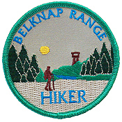 belknap range hiker patch patches