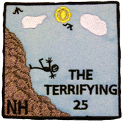 the terrifying 25 twenty five hiking patch nh new hampshire hiking patch