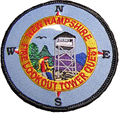 tower quest patch hiking hike hiker patches nh new hampshire fire towers