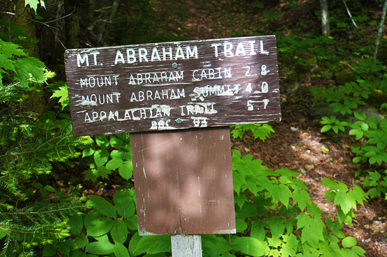 mount abraham maine new england 4000 footers fire wardens trail sign