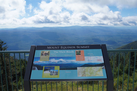 views from equinox mountain manchester vermont
