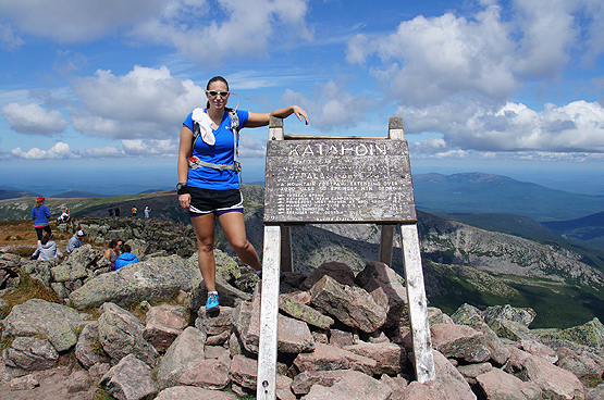 mount katahdin summit photo sign top end appalachian trail