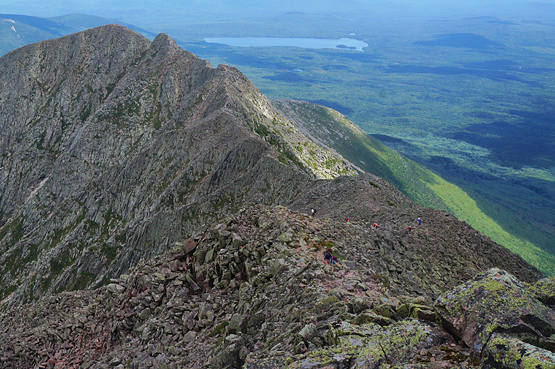 knife edge trail mount katahdin baxter
