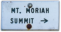 mount moriah summit sign, mt moriah summit sign