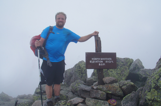 Hike North Brother Mountain New England 4000 footers Maine