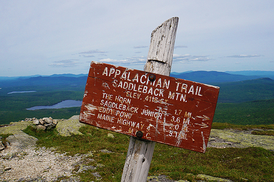 Summit Saddleback Mountain Maine 4126 feet Maine 4000 footers Photo pic