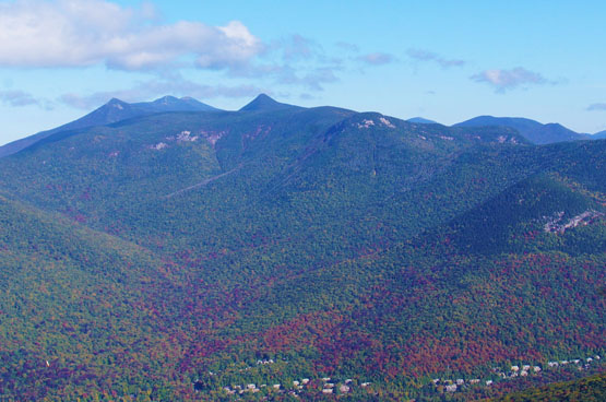 loon mounatin summit views fall foliage