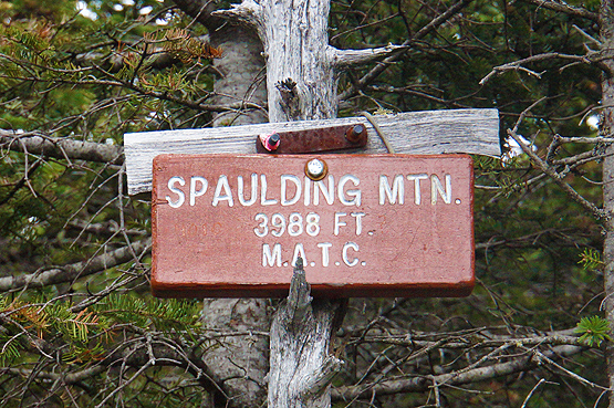 spaulding mountain summit sign hiking photo 4000 footers maine new england