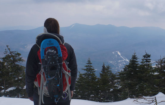 winter mount tecumseh, mt tecumseh view top hiking nh new hampshire