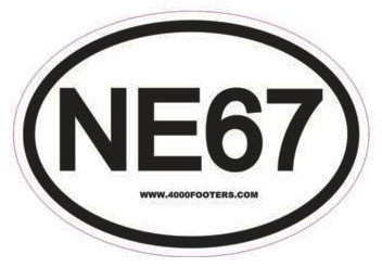 NE67 Oval hiking sticker