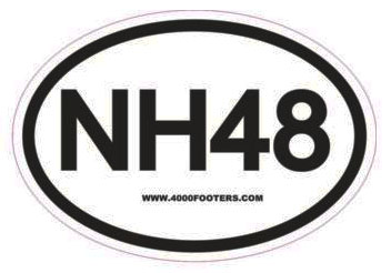 NH48 Oval hiking sticker